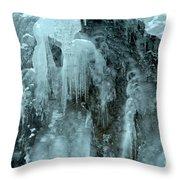 Tangle Falls Frozen Cascade Throw Pillow