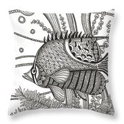 Tangle Fish Throw Pillow