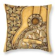 Tangle Guitar Throw Pillow