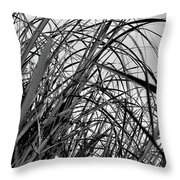 Tangled Grass Throw Pillow