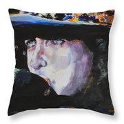 Tangled In Blue Throw Pillow
