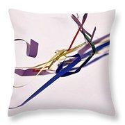 Tangled Ribbons Throw Pillow