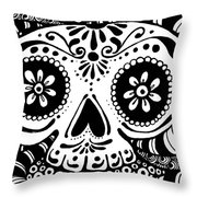 Tangled Skull Throw Pillow