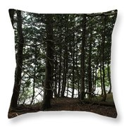 Tangled Trees Throw Pillow