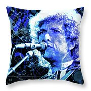 Tangled Up In Blue, Bob Dylan Throw Pillow