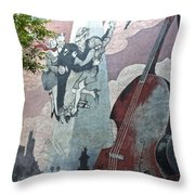 Tango And The Double Bass Throw Pillow