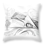 Tango Bridge. 27 March, 2015 Throw Pillow