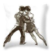 Tango Triangle Throw Pillow by Judith Kunzle