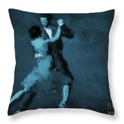 Tango In Blue Throw Pillow