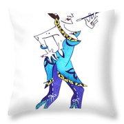Tango Woman - Fashion Illustration Throw Pillow