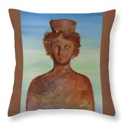 Tanit Mythical Godess Of Ibiza  Throw Pillow