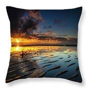 Tanjung Aru Beach Throw Pillow