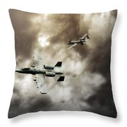 Tank Busters Throw Pillow