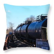 Tanker Cars Pulled By Csx Engines Throw Pillow