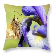 Tan_moth Throw Pillow