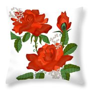 Tanners Rose Throw Pillow