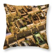 Tanzanian Courtyard Homes Are Clustered Throw Pillow