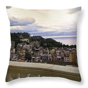 Taormina Balcony View 2 Throw Pillow