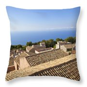 Taormina Rooftops Throw Pillow