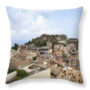 Taormina View II Throw Pillow