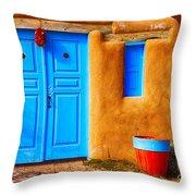 Taos Doorway Throw Pillow