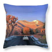 Taos In The Golden Hour Throw Pillow