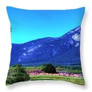 Taos Mountains Throw Pillow