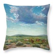 Taos Mustangs Throw Pillow
