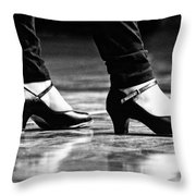 Tap Shoes Throw Pillow by Lauri Novak