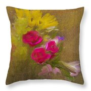 Tapestry Bouquet Throw Pillow