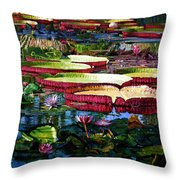 Tapestry Of Color And Light Throw Pillow