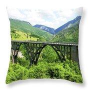 Tara River, Montenegro Throw Pillow
