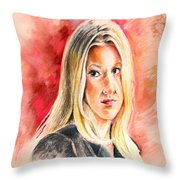 Tara Summers In Boston Legal Throw Pillow