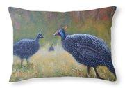 Tarantale - Guinea Fowl Throw Pillow