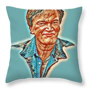 Tarantino Portrait Throw Pillow