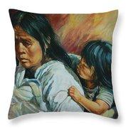 Tarascan Woman Throw Pillow