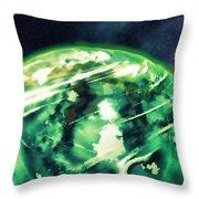 Tardis Crash Landing Throw Pillow