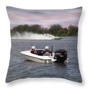 Taree Race Boats 2015 07 Throw Pillow