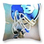 Tarheel Football Helmet Nixo Throw Pillow
