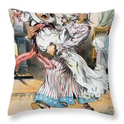 Tariff Cartoon, 1896 Throw Pillow