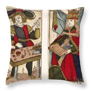 Tarot Cards, C1700 Throw Pillow