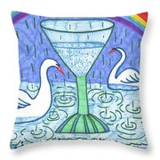 Tarot Of The Younger Self Ace Of Cups Throw Pillow