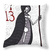 Tarot Of The Younger Self Death Throw Pillow