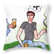 Tarot Of The Younger Self Four Of Cups Throw Pillow