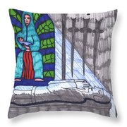Tarot Of The Younger Self Four Of Swords Throw Pillow