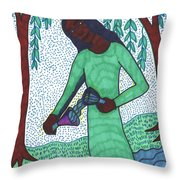 Tarot Of The Younger Self Temperance Throw Pillow