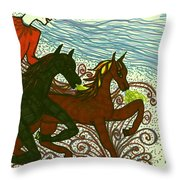 Tarot Of The Younger Self The Chariot Throw Pillow