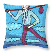 Tarot Of The Younger Self The Fool Throw Pillow