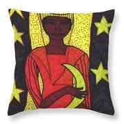 Tarot Of The Younger Self The High Priestess Throw Pillow