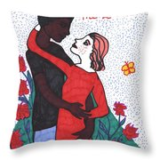 Tarot Of The Younger Self The Lovers Throw Pillow